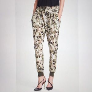 Wayf Floral Green Crepe Joggers